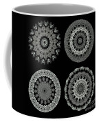 Kaleidoscope Ernst Haeckl Sea Life Series Black And White Set 2  Coffee Mug