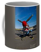 Nose Art On A Curtiss P-40e Warhawk Coffee Mug