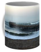 Ocean Wave Storm Pier Coffee Mug