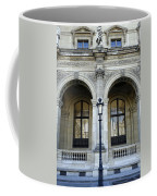 Ornate Architectural Artwork On The Buildings Of The Musee Du Louvre In Paris France Coffee Mug