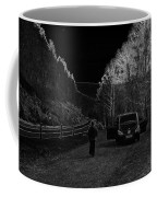 Parking Next To A Loch In The Scottish Highlands Coffee Mug