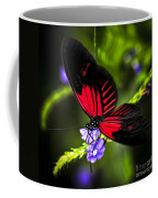 Red Heliconius Dora Butterfly Coffee Mug