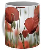 Red Poppy Flowers Coffee Mug by Nailia Schwarz