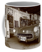 Route 66 Corvette Coffee Mug