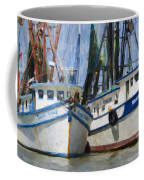 Shrimp Boats On The Creek Coffee Mug