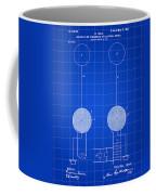 Tesla Electric Transmission Patent 1900 - Blue Coffee Mug