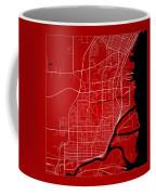 Thunder Bay Street Map - Thunder Bay Canada Road Map Art On Colo Coffee Mug