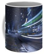 Tram At Night Coffee Mug