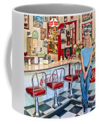 50s American Style Soda Fountain Coffee Mug by David Smith