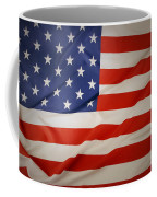 American Flag Coffee Mug by Les Cunliffe