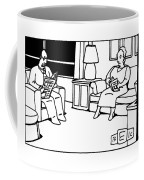 He Died Alone With His Family Coffee Mug