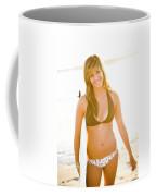 A Surfer Girl Poses For Fun Portraits Coffee Mug