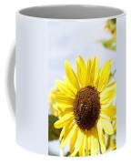 Bee On Flower Coffee Mug by Les Cunliffe