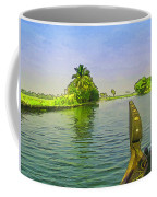 Captain Of The Houseboat Surveying Canal Coffee Mug