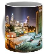 Charlotte City Skyline Night Scene Coffee Mug