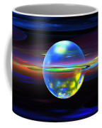 Computer Generated Sphere Abstract Fractal Flame Modern Art Coffee Mug