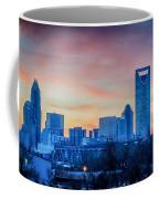 Early Morning Sunrise Over Charlotte City Skyline Downtown Coffee Mug