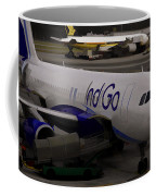 Indigo Aircraft Getting Ready In Changi Airport Coffee Mug