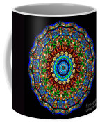 Kaleidoscope Stained Glass Window Series Coffee Mug by Amy Cicconi