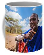 Maasai Man Portrait In Tanzania Coffee Mug