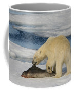 Polar Bear With Fresh Kill Coffee Mug