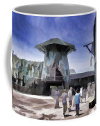 Visitors Heading Towards The Waterworld Attraction Coffee Mug