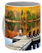 Wooden Dock On Autumn Lake Coffee Mug