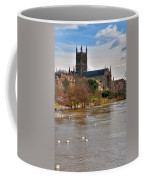 Worcester Cathedral And Swans Coffee Mug