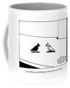 I Can't Believe You Symbolize Peace When You're Coffee Mug by Bruce Eric Kaplan