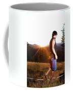 A Professional Slackliner Plays Coffee Mug