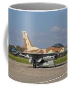An F-16c Barak Of The Israeli Air Force Coffee Mug