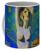 Ancient Cyprus Map And Aphrodite Coffee Mug