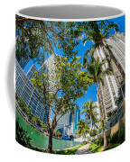 Downtown Miami Brickell Fisheye Coffee Mug