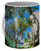 Downtown Miami Brickell Fisheye Coffee Mug
