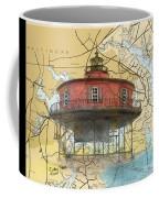7 Ft Knoll Lighthouse Md Nautical Chart Map Art Cathy Peek Coffee Mug