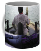 Lady Sleeping While Boatman Steers Coffee Mug