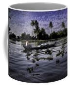 Man Boating On A Salt Water Lagoon Coffee Mug