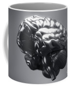 Metallic Brain Coffee Mug