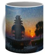 Pineapple Fountain At Dawn Coffee Mug