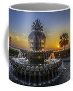 Pineapple Fountain At Sunrise Coffee Mug