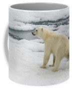 Polar Bear Crossing Ice Floe Coffee Mug