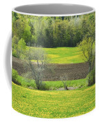 Spring Farm Landscape With Dandelion Bloom In Maine Coffee Mug