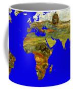 Modern World Map  Coffee Mug