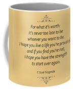 74- F. Scott Fitzgerald Coffee Mug