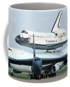 747 Transporting Discovery Space Shuttle Coffee Mug