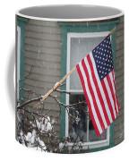 #762 D68 American Flag Winter Coffee Mug
