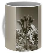 Joshua Tree National Park Landscape No 7 In Sepia Coffee Mug