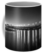 Bridge Of Lions St Augustine Florida Painted Bw Coffee Mug