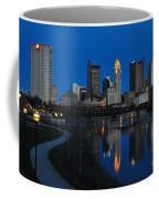 Columbus Ohio Skyline At Night Coffee Mug