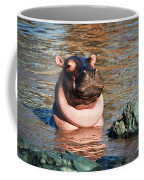 Hippopotamus In River. Serengeti. Tanzania Coffee Mug